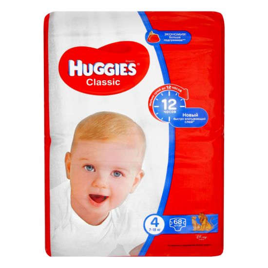 Подгузники Huggies Classic 4 Mega 68 шт