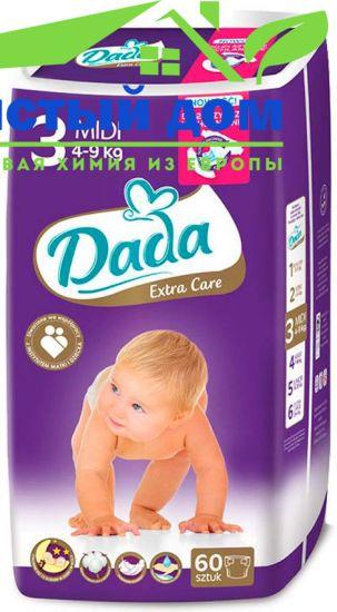 Подгузники дада Dada Extra Care 3 (4-9 кг) 60 шт